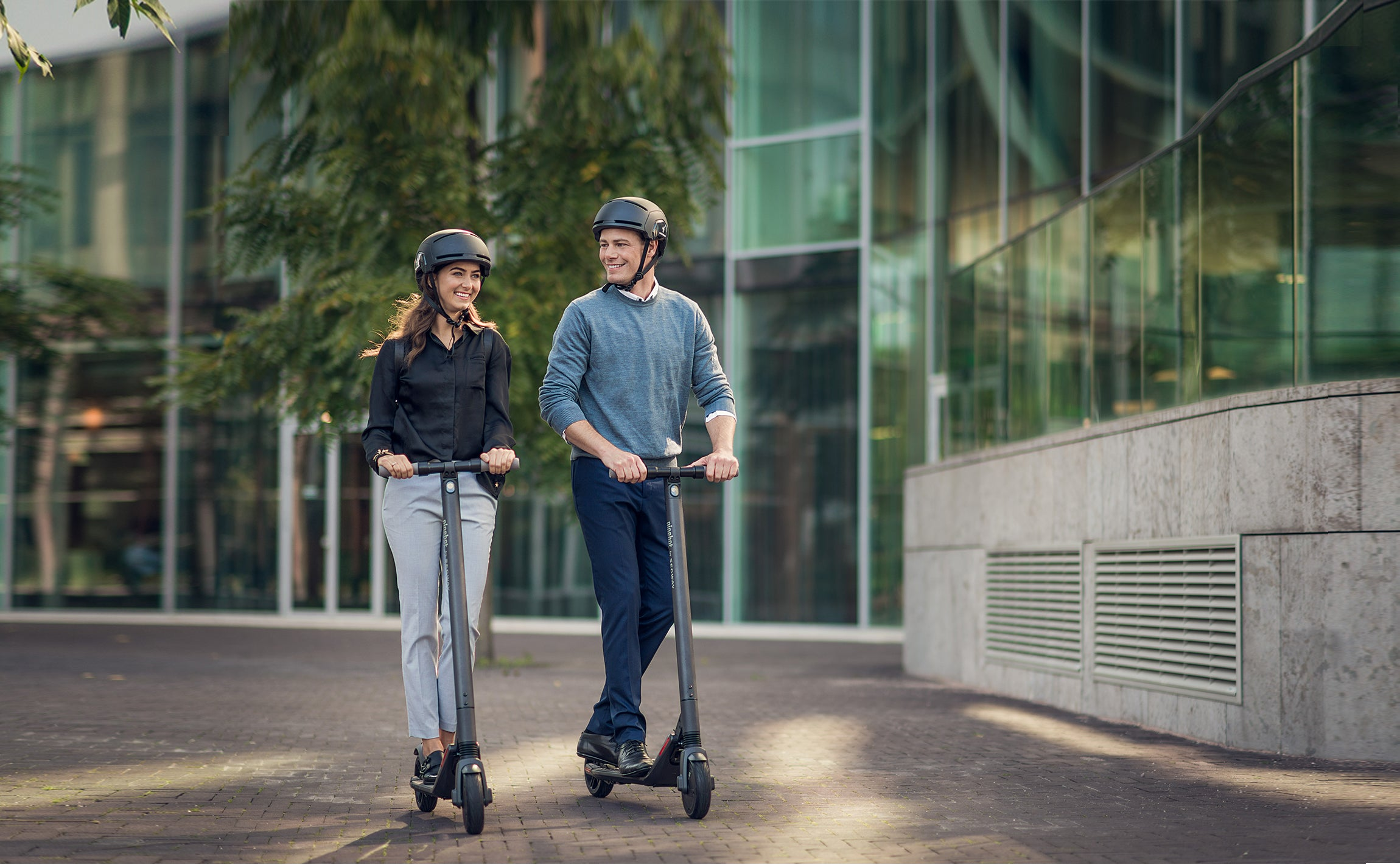 Ninebot ES2 Segway E-Scooters on Pavement Image