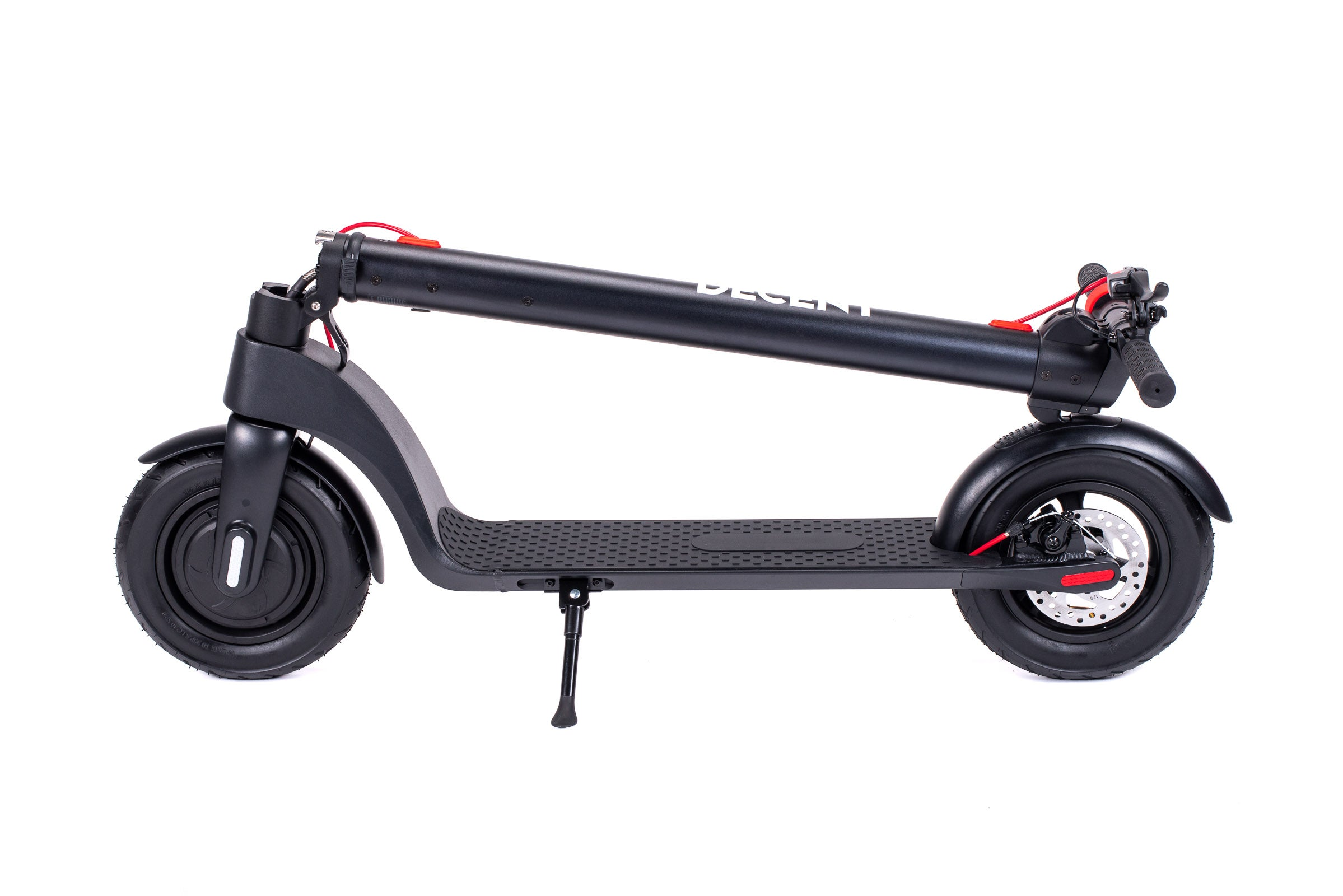Decent X7 Electric Scooter Folded Side View
