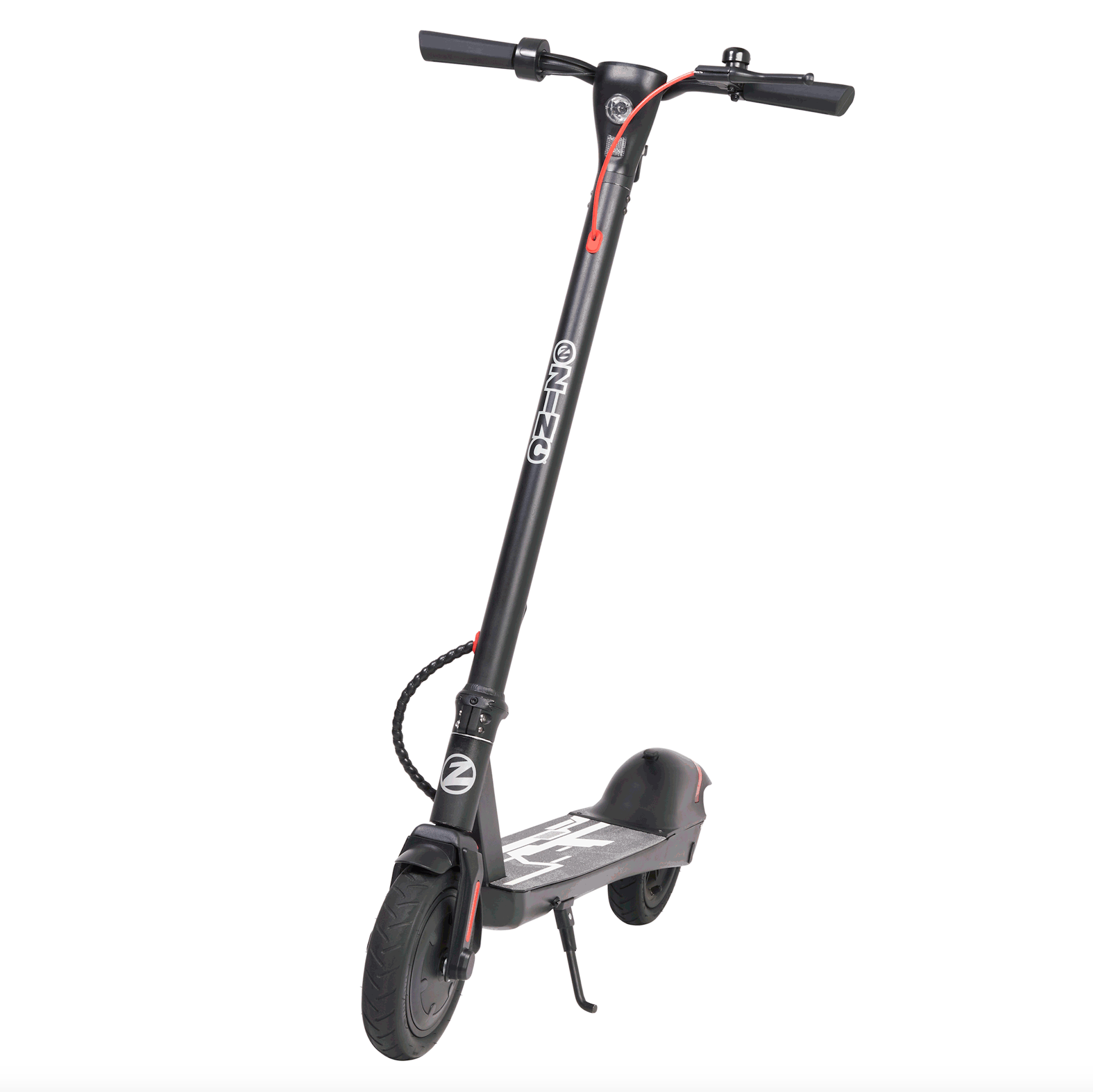 Zinc Eco Max E-Scooter on Kick Stand