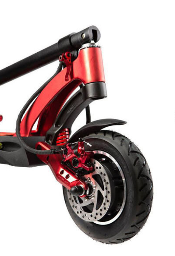Kaabo Mantis Pro Red Electric Scooter Front Suspension