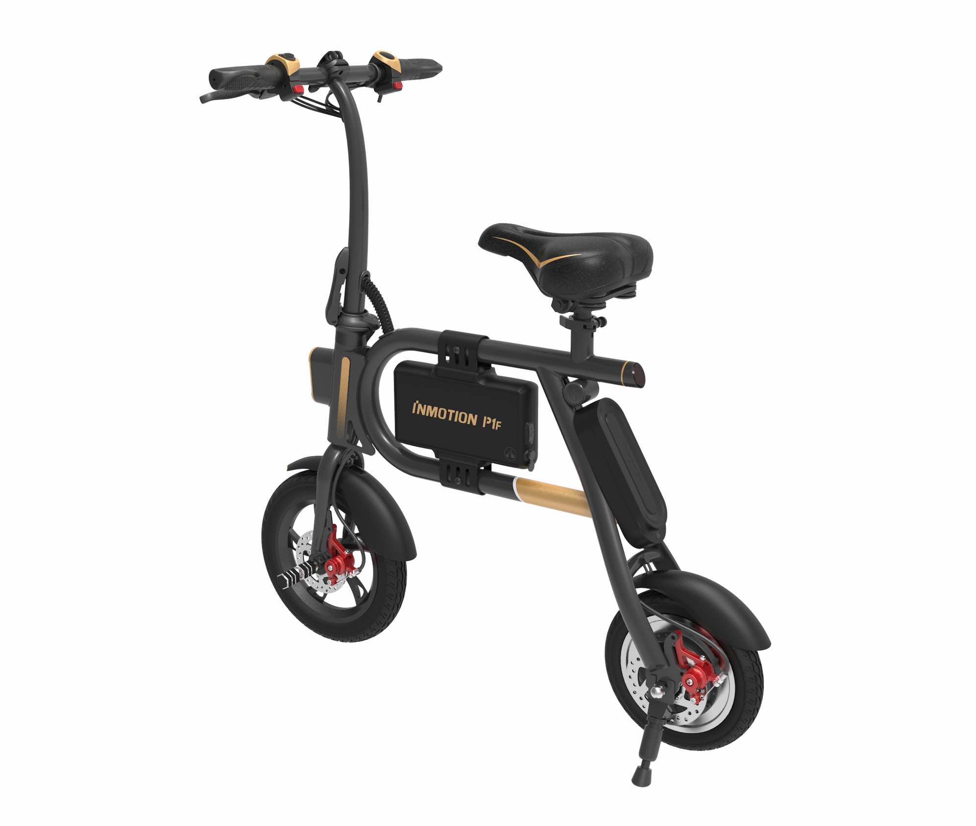 InMotion P1F Electric Scooter Rear Angled View Image