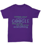 Stop Acting Like You Know Everything Funny Shirts