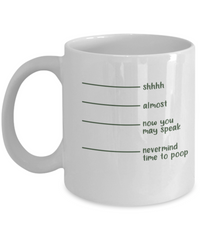 Time To Poop Funny Coffee Mugs