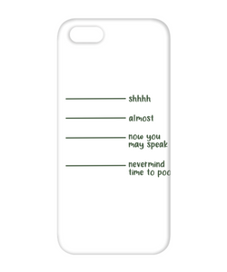 Time To Poop Funny Phone Cases