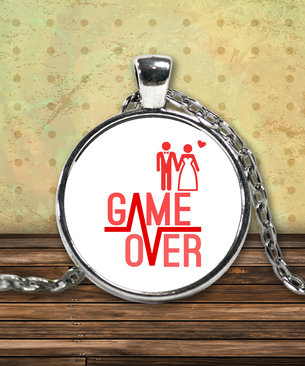 Game Over Funny Necklace