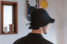 Load image into Gallery viewer, #004 Ripstop x Nylon Tulip Hat / Black