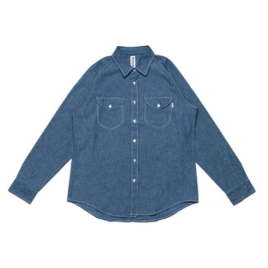 #000 Chambray Raglan Shirts