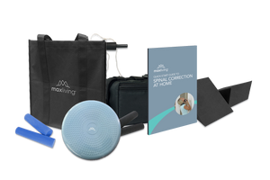 Continue your spinal correction at home with MaxLiving's Personal Homecare Kit. This kit has all of the basics for chiropractic homecare including 2 sets of progressive rolls, 2 pelvic/lumbar wedges, an inflatable wobble cushion, a Dual-Purpose Cervical Traction Unit, a Vertical Pull Adapter, and more.