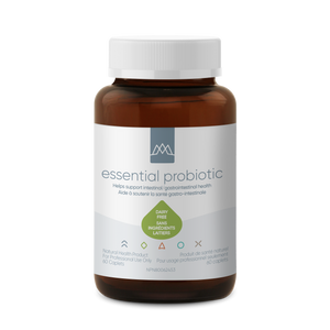 Essential Probiotic uses the most advanced delivery and shelf stability technology available to ensure maximum potency and viability. This is achieved using the latest techniques designed to protect fragile probiotic organisms from harsh stomach acid and deliver the highest number of organisms to the intestinal tract.