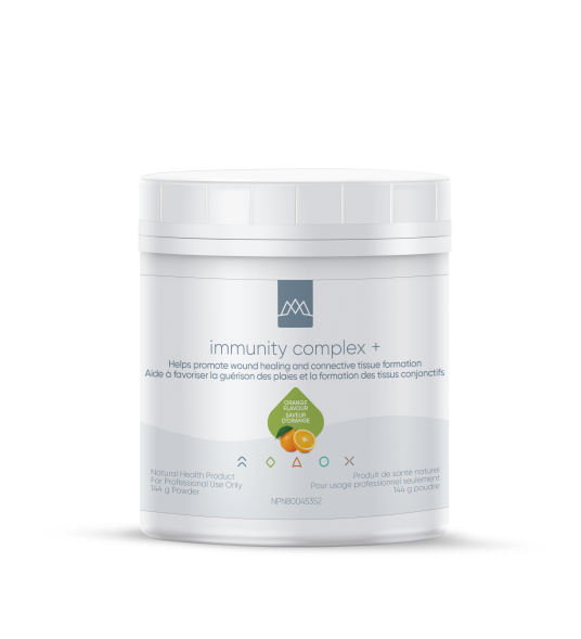 Immunity Complex + contains three unique bioflavonoids—quercetin, hesperidin, and rutin - that increase the strength and regulate permeability of capillaries. These compounds work in synergy with vitamin C to keep collagen in good condition.