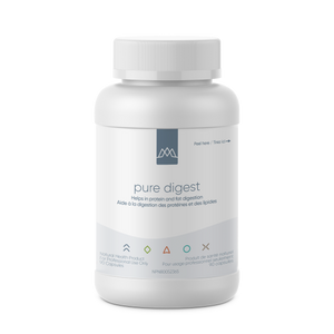 Pure Digest is comprised of a proprietary blend of digestive enzymes along with betaine HCl to support optimal digestion of food. It contains the special protease DPP IV (dipeptidyl peptidase IV), which aids in the breakdown of casomorphin (from casein) and gluteomorphin (from gluten).