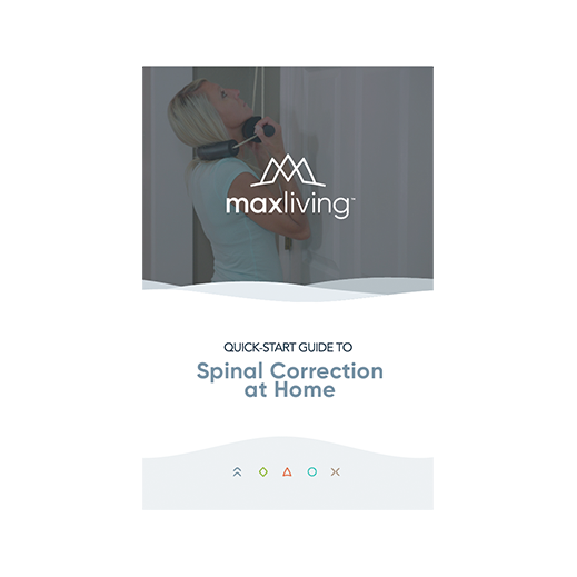 Quick-Start Guide to Spinal Correction at Home (instruction booklet for MaxLiving Complete Homecare Kit) comes in packs of 25. Exercises Covered: Spinal Warm-up, Isometrics: Cervical, Thoracic, Pelvic/Lumbar, Neuromuscular Re-Training, and Passive Molding. Includes photos of each exercise.