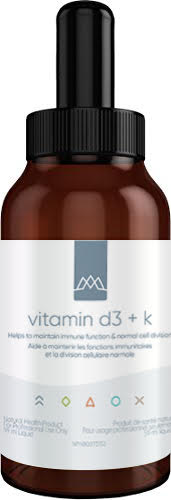 Vitamin D3 + K is a concentrated, highly bioavailable liquid vitamin D formulation offering 1,000 IU per 0.5 ml with 125 mcg of vitamin K1 and 12.5 mcg of vitamin K2. This cutting-edge technology provides enhanced bioavailability utilizing only naturally derived ingredients.