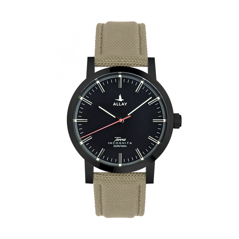 Terra Incognita Mark I Quarz black/matt/khaki - Allay Germany