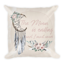 Load image into Gallery viewer, The Moon is Calling Premium Pillow