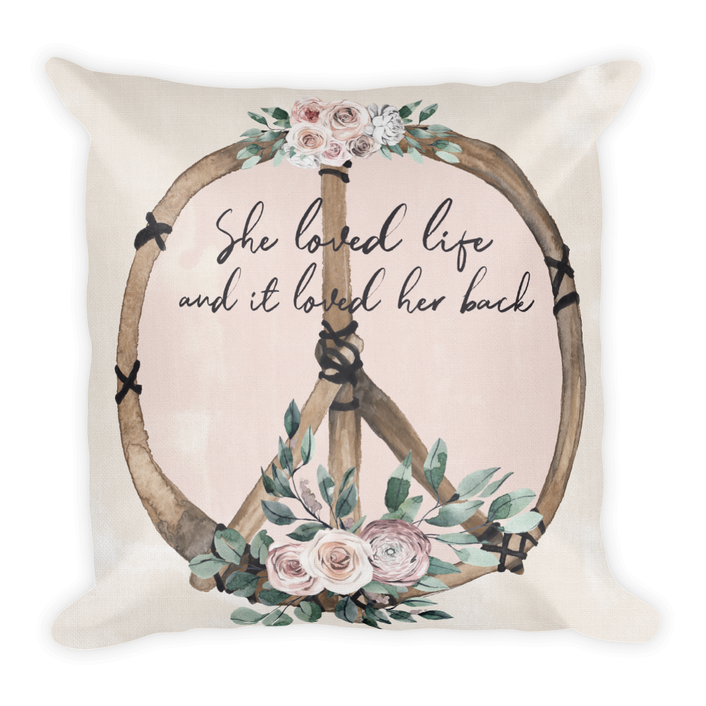 She Loved Life Premium Pillow