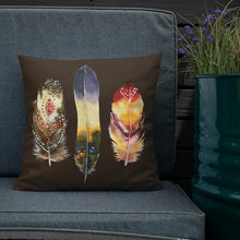 Load image into Gallery viewer, Boho Feathers Premium Pillow
