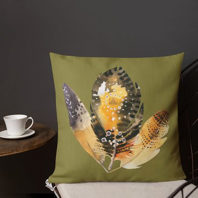 Boho Feathers Premium Pillow