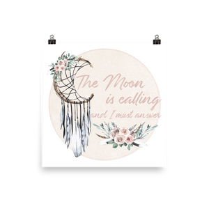 The Moon is Calling Photo paper poster