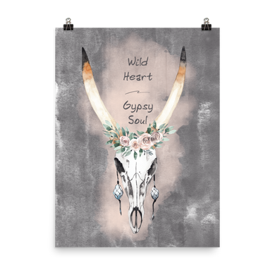 Wild Heart Gypsy Soul Photo paper poster