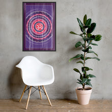 Load image into Gallery viewer, Om Mandala Framed poster