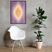 Load image into Gallery viewer, Om Framed poster