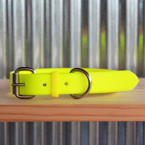 Fluro Yellow Dog Collar
