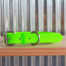 Load image into Gallery viewer, Fluro Green Dog Collar