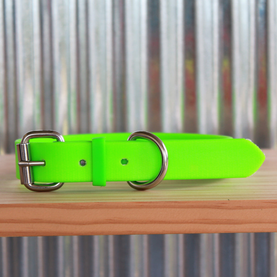 Fluro Green Dog Collar