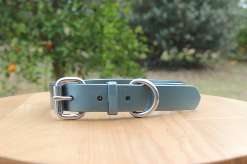 Slate Shimmer (Dark Grey) Dog Collar