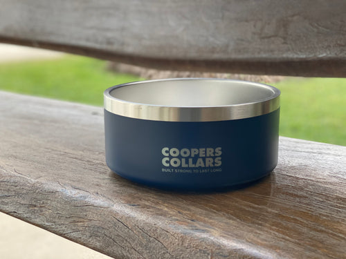 Dog Bowl Navy