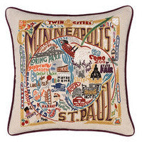Minneapolis Hand-Embroidered Pillow