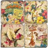 Hawaiiana Drink Coasters