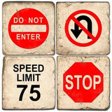 Traffic Signs Drink Coasters