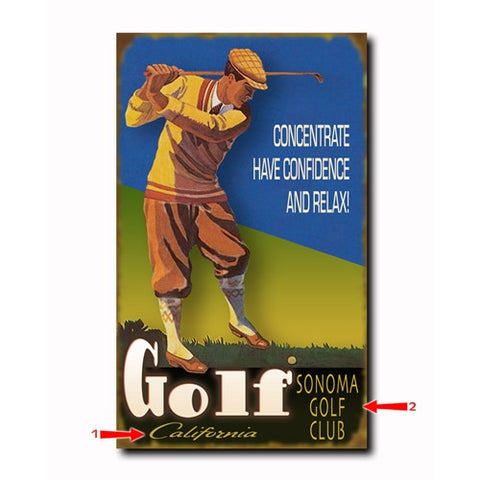 Golf Concentrate Custom Sign