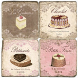 French Desserts Drink Coasters