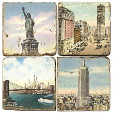 New York City Scenic Drink Coasters