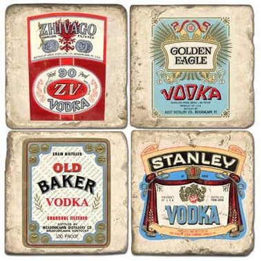 Vodka Label Drink Coasters