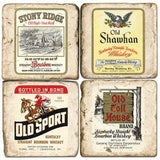 Whiskey Label Drink Coasters