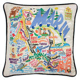Marin County Hand-Embroidered Pillow