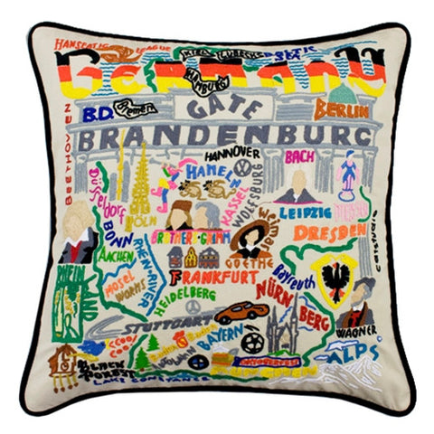 Germany Hand-Embroidered Pillow