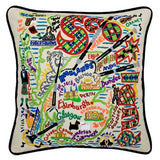 Scotland Hand-Embroidered Pillow