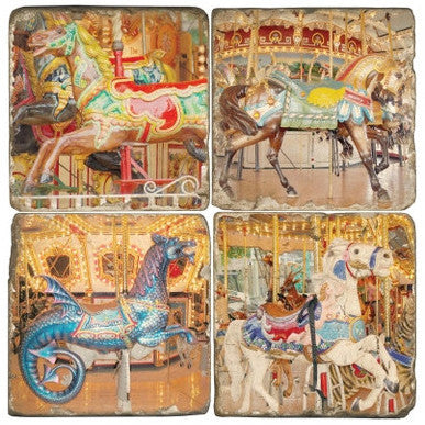 Carousel Horses Drink Coasters