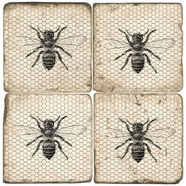 Honeycomb Bee Drink Coasters