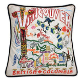 Vancouver Hand-Embroidered Pillow