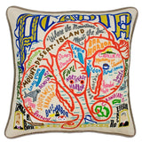 Acadia Hand-Embroidered Pillow