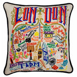 London Hand-Embroidered Pillow