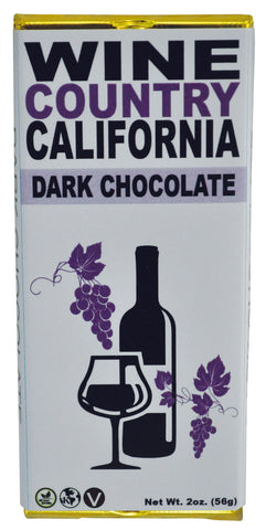 Wine Country Dark Chocolate Bar