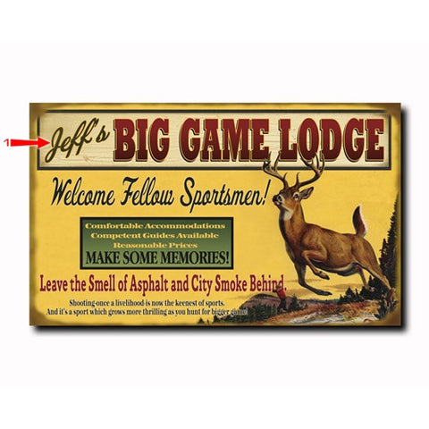 Big Game Lodge Custom Sign