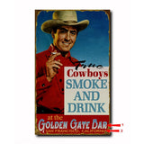 Cowboys Smoke and Drink Custom Sign